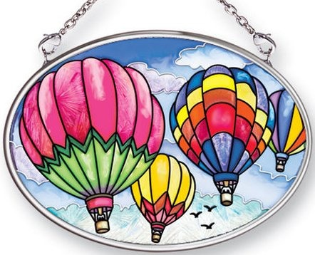 Amia 41461 Up and Away Small Oval Suncatcher