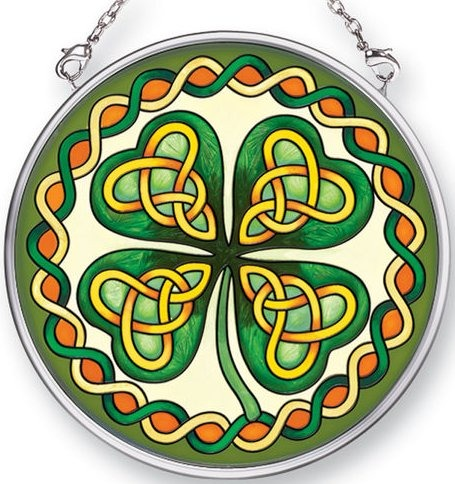 Amia 41500 Celtic Leaf Small Circle Suncatcher