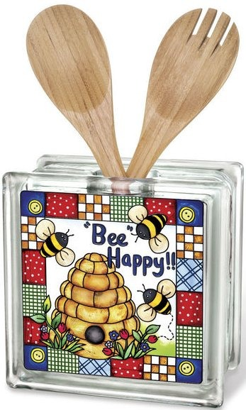Amia 41544 Bee Happy Beveled Glass
