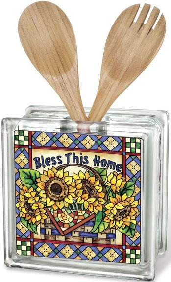 Amia 41548 Bless This Home Beveled Glass