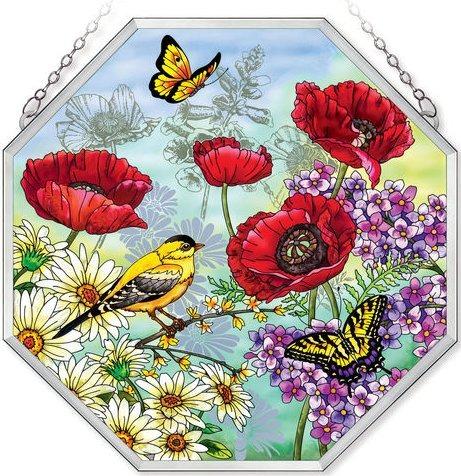 Amia 41564 Parade of Poppies Beveled Medium Octagon Panel