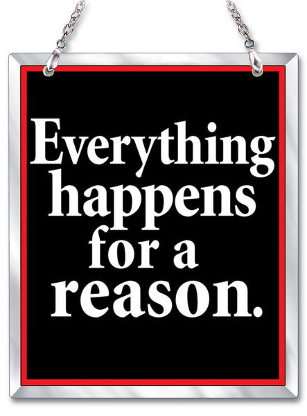 Amia 41608 Everything Happens For A Reason Beveled Glass Rectangle Suncatcher