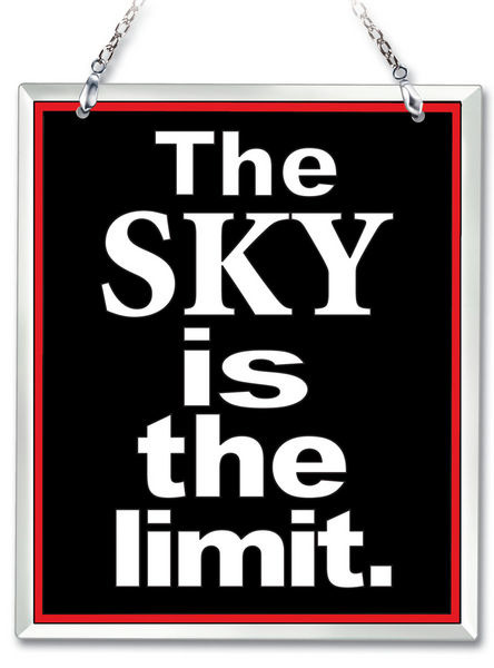 Amia 41619 The Sky Is The Limit Beveled Glass Rectangle Suncatcher
