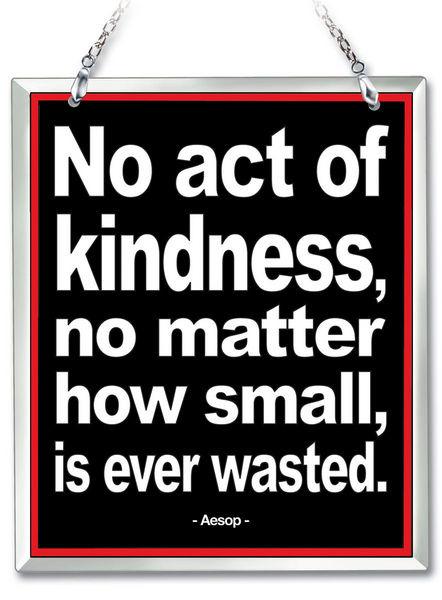 Amia 41621 Act of Kindness Beveled Glass Rectangle Suncatcher