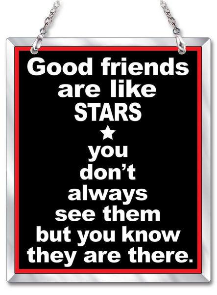 Amia 41623 Good Friends Beveled Glass Rectangle Suncatcher