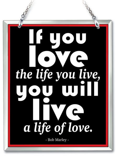 Amia 41631 Life of Love Beveled Glass Rectangle Suncatcher