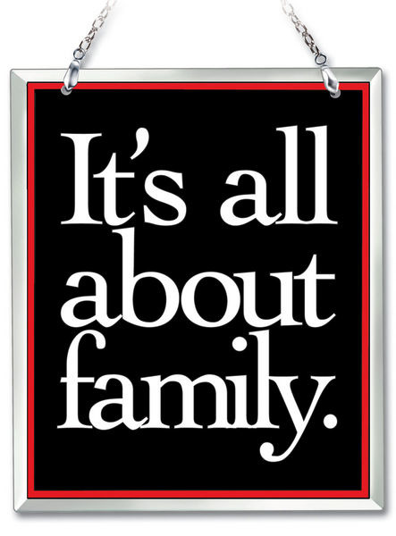 Amia 41655 All About Family Beveled Glass Rectangle Suncatcher