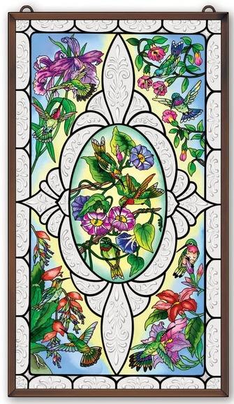 Amia 41657 Hummingbird Window Panel