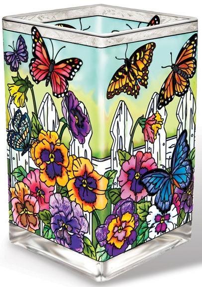 Amia 41706 Picket Fence Rectangular Vase Votive Holder