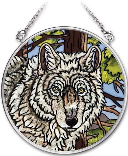 Amia 41732 Wolf Pack Small Circle Suncatcher