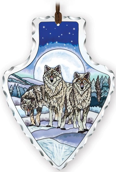 Amia 41738 Wolf Pack Large Arrowhead Suncatcher