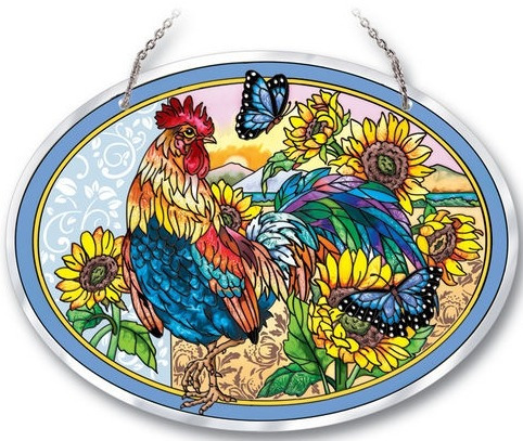 Amia 41742 Morning Has Broken Beveled Large Oval Suncatcher