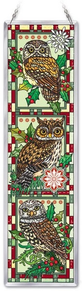 Amia 41778 Christmas Owls Beveled Panel