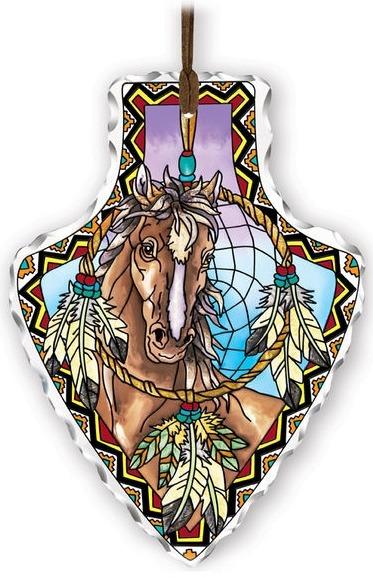 Amia 41831 Horse Large Arrowhead Suncatcher