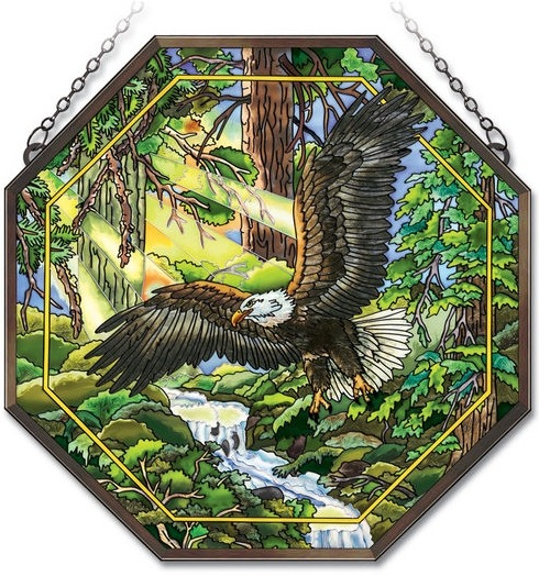 Amia 41842 Eagle Flight Beveled Medium Octagon Panel