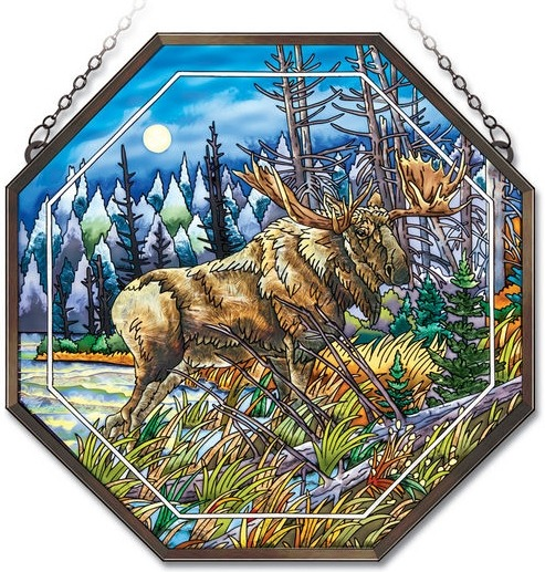 Amia 41844 Moose Beveled Medium Octagon Panel