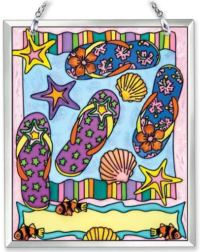 Amia 41856 Flip Flop Souvenir Suncatcher