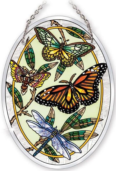 Amia 42025 Papillons 'A Ailes Beveled Medium Oval Suncatcher