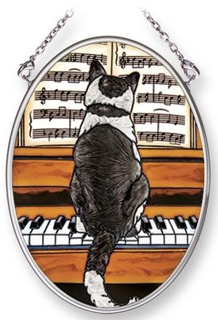 Amia 42091 In Concert Piano Small Oval Suncatcher