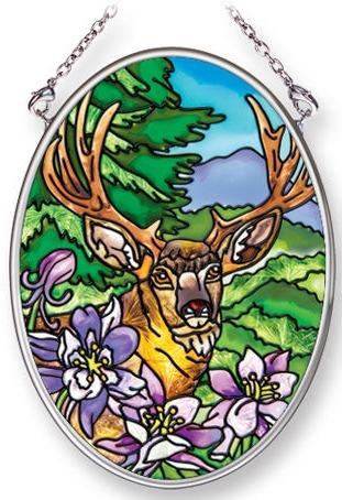 Amia 42096 Deer Small Oval Suncatcher