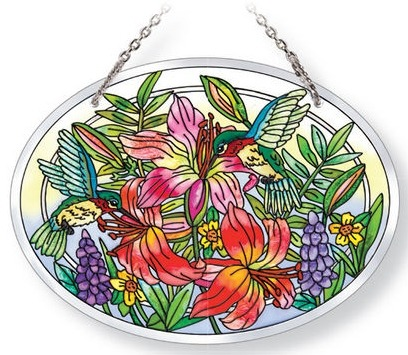 Amia 42122 Daylilies & Associates Medium Oval Suncatcher