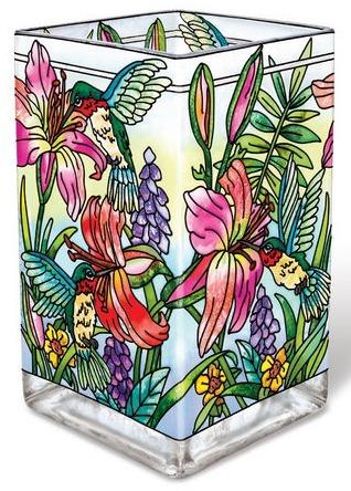 Amia 42126 Daylilies & Associates Rectangular Vase Votive Holder