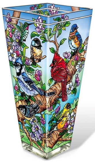 Amia 42136 Birds and Blossoms Vase