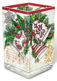 Amia 42150 I Heard The Glittering Bells Rectangular Vase Votive Holder