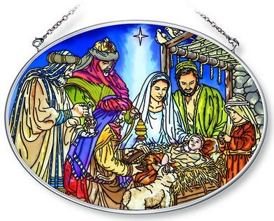 Amia 42159 Oh Holy Night Large Oval Suncatcher