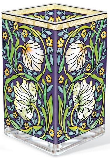 Amia 42177 Pempernel Arts and Craft Rectangular Vase Votive Holder