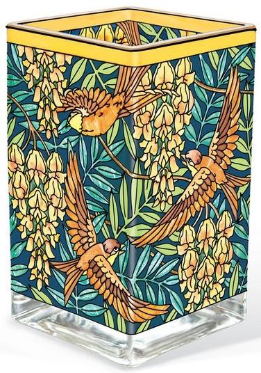 Amia 42180 Oiseaux et Glycines Rectangular Vase Votive Holder