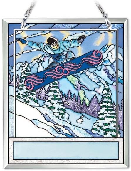 Amia 42197 Snow Boarding Souvenir Suncatcher