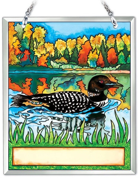 Amia 42198 Loon New Hampshire Souvenir Suncatcher