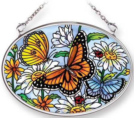 Amia 42258 Spring Fling Small Oval Suncatcher