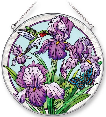 Amia 42268 Iris Terrace Large Circle Suncatcher