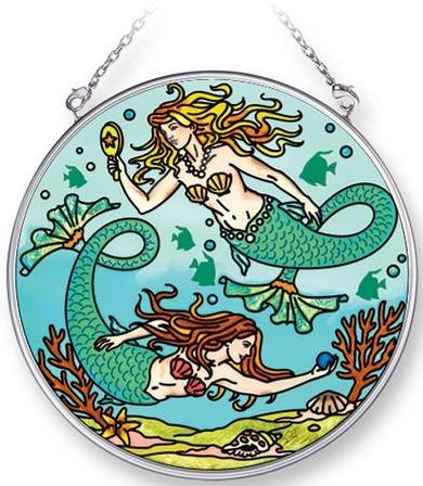 Amia 42271 Mermaids Medium Circle Suncatcher
