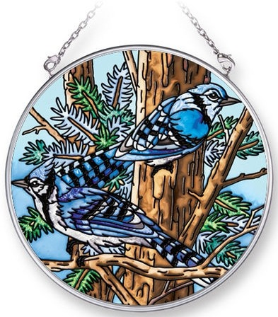 Amia 42286 Bluejay Medium Circle Suncatcher
