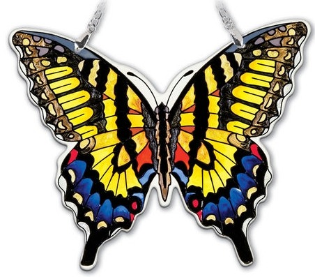 Amia 42324 Swallowtail Medium Water Cut Suncatcher
