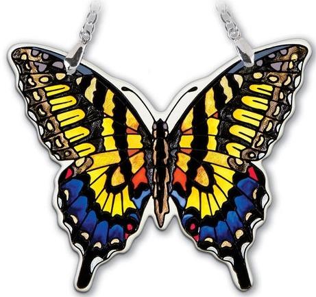 Amia 42325 Swallowtail Small Water Cut Suncatcher