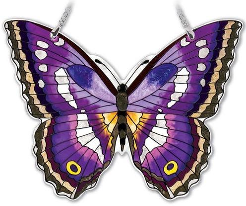 Amia 42335 Purple Emperor Large Water Cut Suncatcher