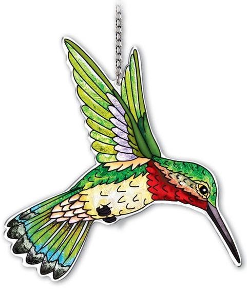 Amia 42338 Ruby Throated Hummingbird Large Suncatcher