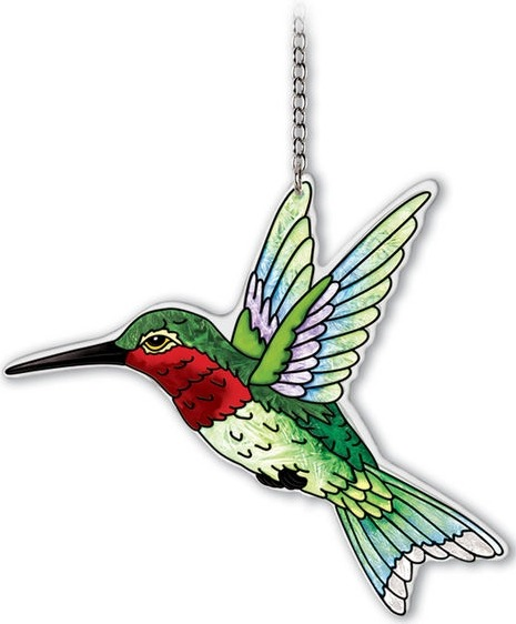 Amia 42339 Ruby Throated Hummingbird Medium Suncatcher