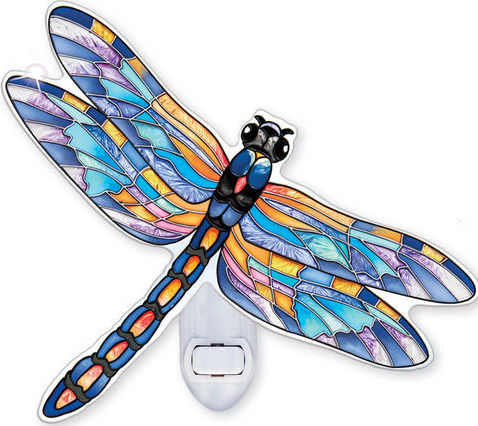 Amia 42347 Four Spotted Pennant Dragonfly Night Light Nightlight