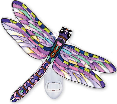 Amia 42348 Flame Skimmer Dragonfly Night Light
