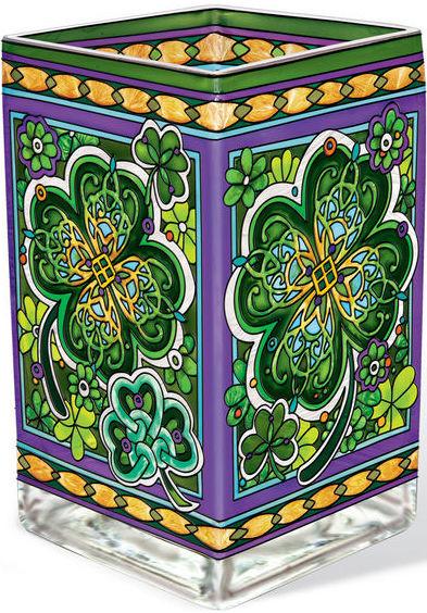 Amia 42369 Emerald Isle Rectangular Vase Votive Holder