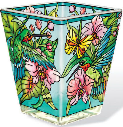 Amia 42382 Hummingbirds Orchard Petite Votive Holder