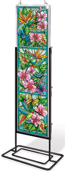 Amia 42385 Hummingbirds Orchard Beveled Panel