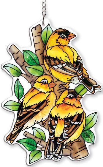 Amia 42400 Nested Birds Water Cut Suncatcher