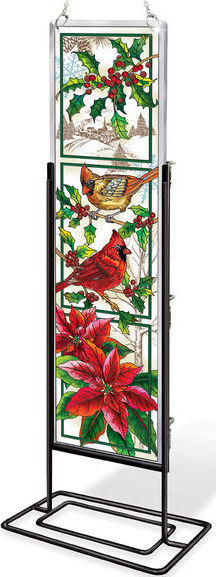 Amia 42412 Crimson Christmas Beveled Panel
