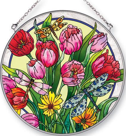 Amia 42423 Glorious Garden Large Circle Suncatcher
